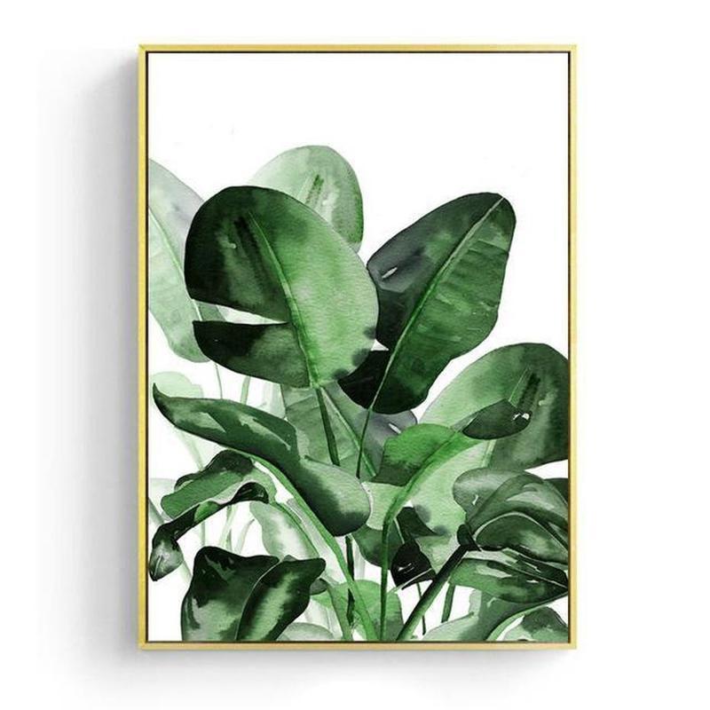 Fresh Palm Leaf Canvas Print-Heart N' Soul Home-15x20cm No frame-Fresh Palm Leaf - Monstera Canvas Print-Heart N' Soul Home