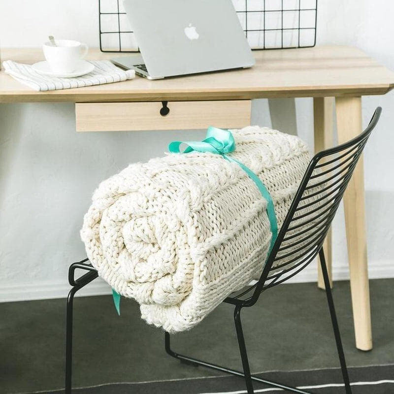 Handmade Oversize ( 200cm ) Cable Knit Chunky Throw-Heart N' Soul Home-Heart N' Soul Home