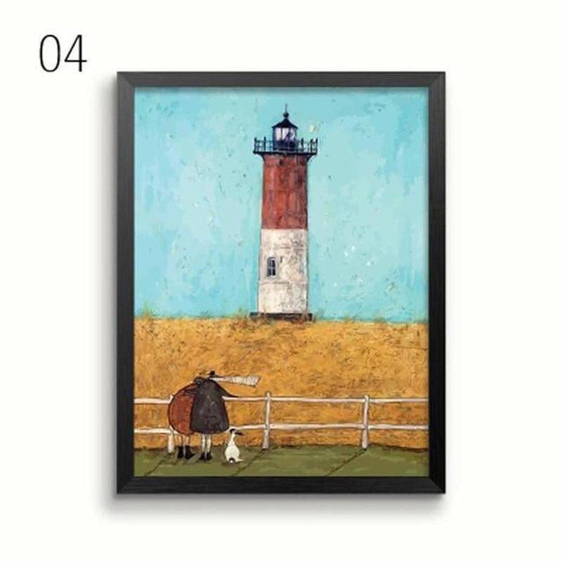 Her Favourite Cloud Art Canvas Painting Prints-Heart N' Soul Home-13x18 cm no frame-04-Heart N' Soul Home
