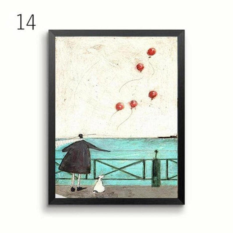 Her Favourite Cloud Art Canvas Painting Prints-Heart N' Soul Home-13x18 cm no frame-14-Heart N' Soul Home