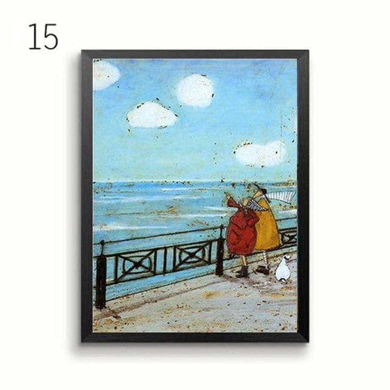 Her Favourite Cloud Art Canvas Painting Prints-Heart N' Soul Home-13x18 cm no frame-15-Heart N' Soul Home
