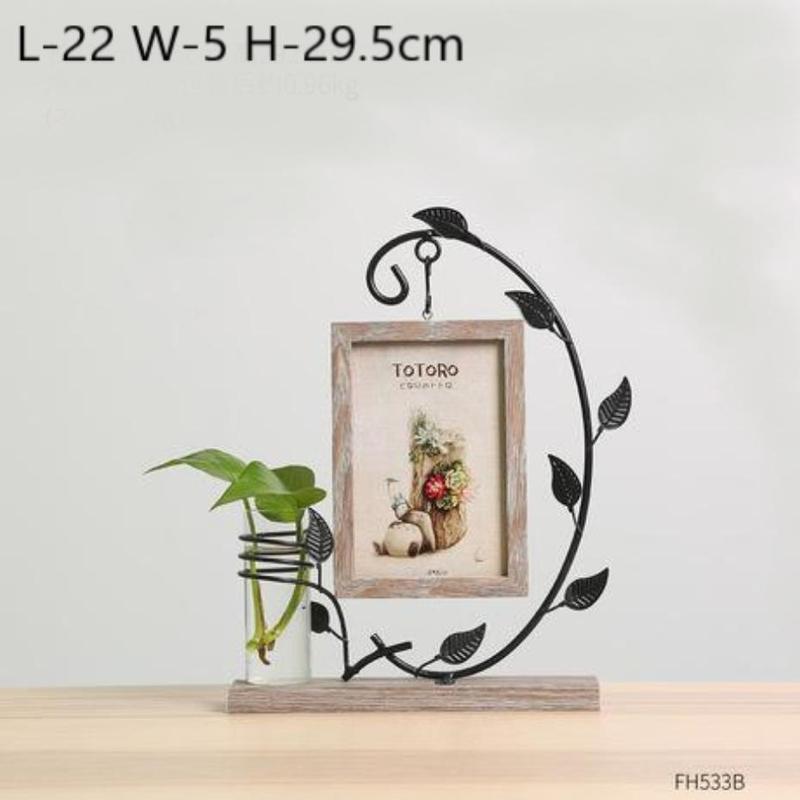 Idyllic Picture Frame Vase-Heart N' Soul Home-Gray Totoro-Heart N' Soul Home