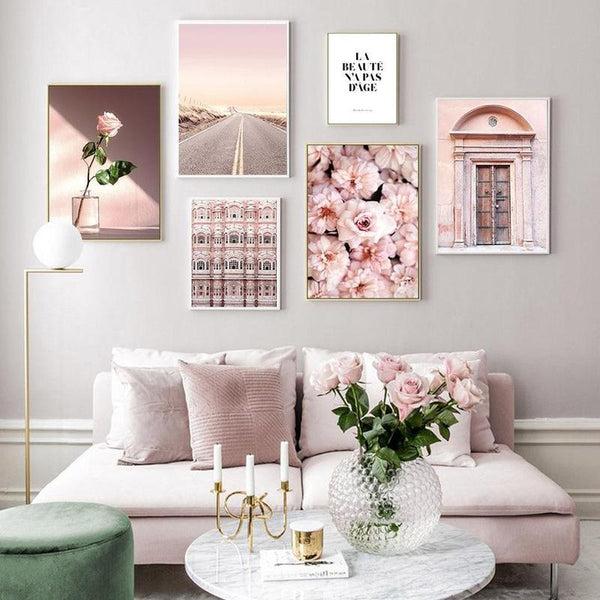 La Beaute N'a Pas D'age - Beauty Has No Age Pink Series Canvas Prints-Heart N' Soul Home-Heart N' Soul Home