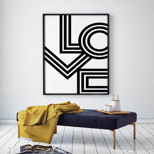 LOVE Canvas Painting Prints-HeartnSoulHome-10x15 cm no frame-Heart N' Soul Home
