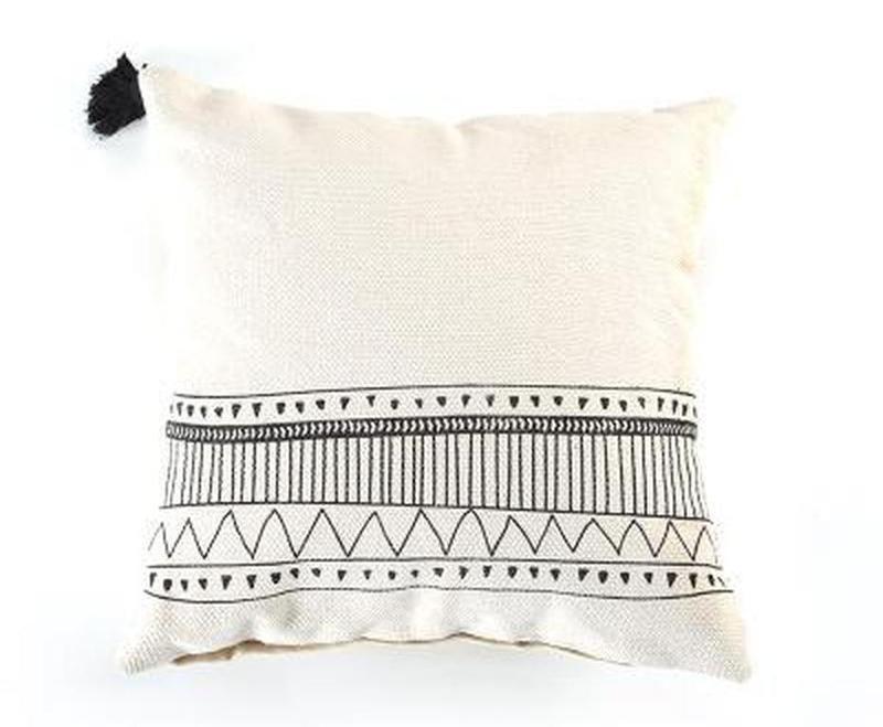 Maci Embroidery Cushion Cover-Heart N' Soul Home-B 45x45cm-Heart N' Soul Home