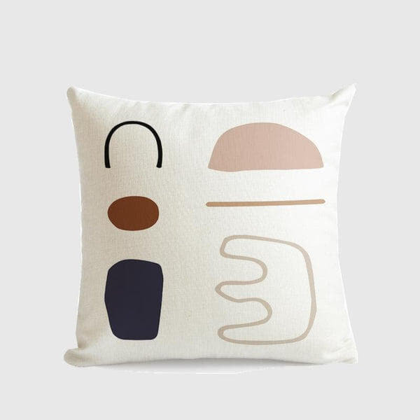 Morandi Colour Art Series Cushion Cover Lyric-Heart N' Soul Home-55×55 cm No Insert-Heart N' Soul Home