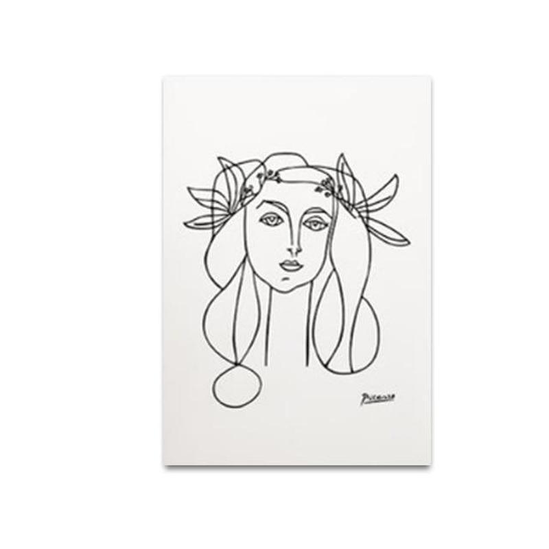 Morandi Nordic Classic Abstract Art Canvas Prints-Heart N' Soul Home-10x15cm no frame-Girl-Heart N' Soul Home