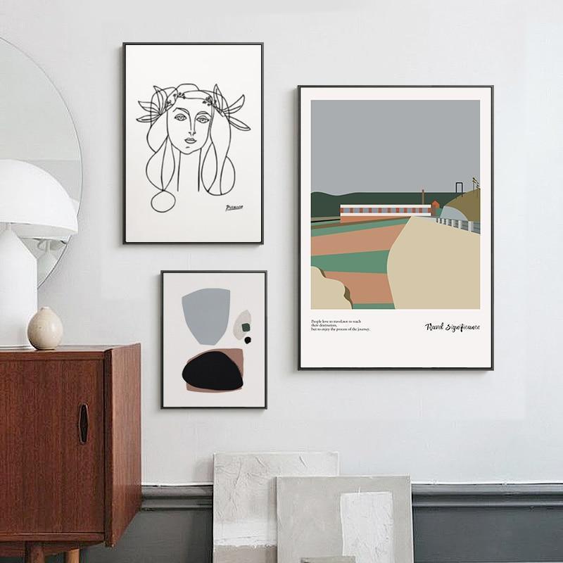 Morandi Nordic Classic Abstract Art Canvas Prints-Heart N' Soul Home-Heart N' Soul Home