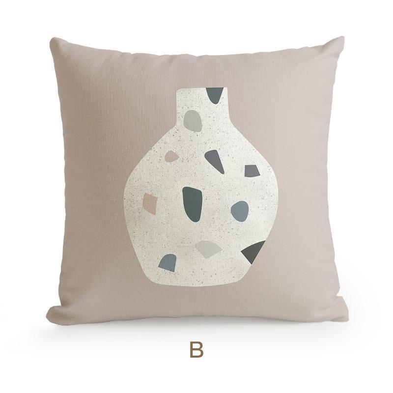 Morandi Nordic Classic Abstract Art Cushion Cover-Heart N' Soul Home-45X45cm No Insert-B-Heart N' Soul Home