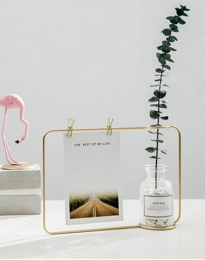 Nordic Creative Vase With Postcard Frame-Heart N' Soul Home-Heart N' Soul Home
