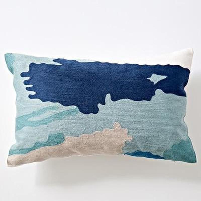 Nordic Geometric Art Embroidered Cushion Cover-Heart N' Soul Home-D 30x60cm-Heart N' Soul Home