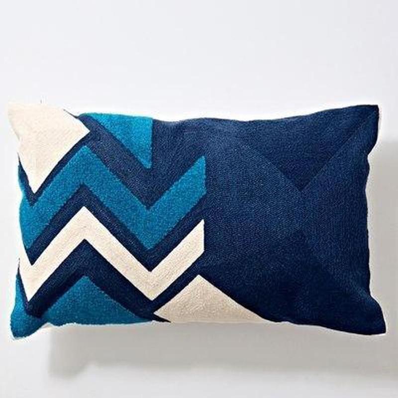 Nordic Geometric Art Embroidered Cushion Cover-Heart N' Soul Home-E 30x60cm-Heart N' Soul Home