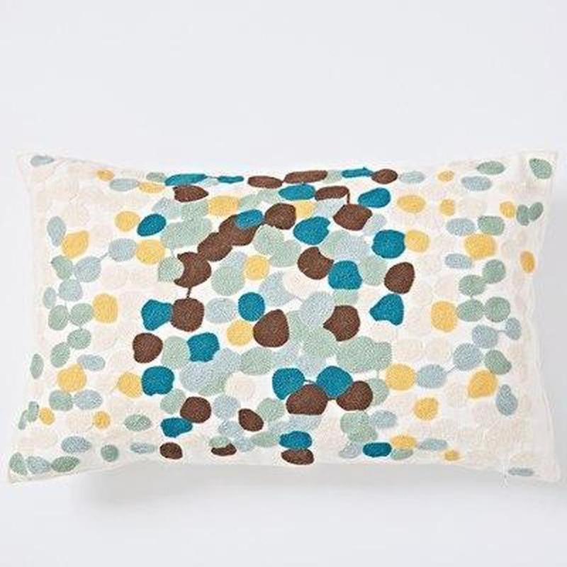 Nordic Geometric Art Embroidered Cushion Cover-Heart N' Soul Home-F 30x60cm-Heart N' Soul Home
