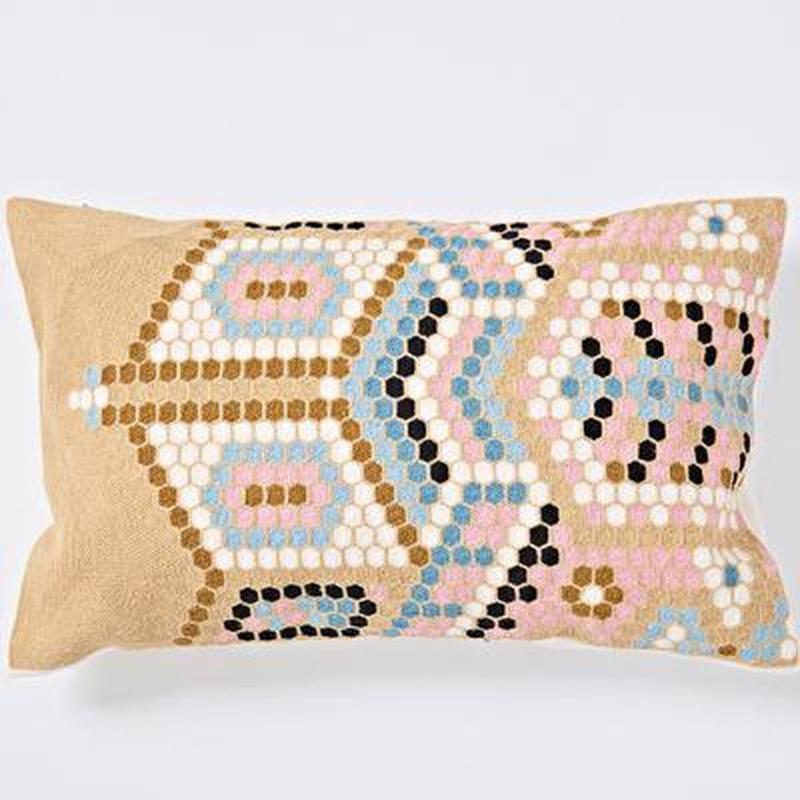 Nordic Geometric Art Embroidered Cushion Cover-Heart N' Soul Home-I 30x60cm-Heart N' Soul Home
