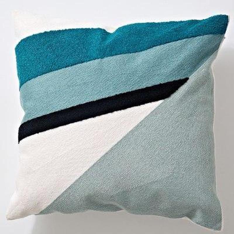 Nordic Geometric Art Embroidered Cushion Cover-Heart N' Soul Home-P 45x45cm-Heart N' Soul Home