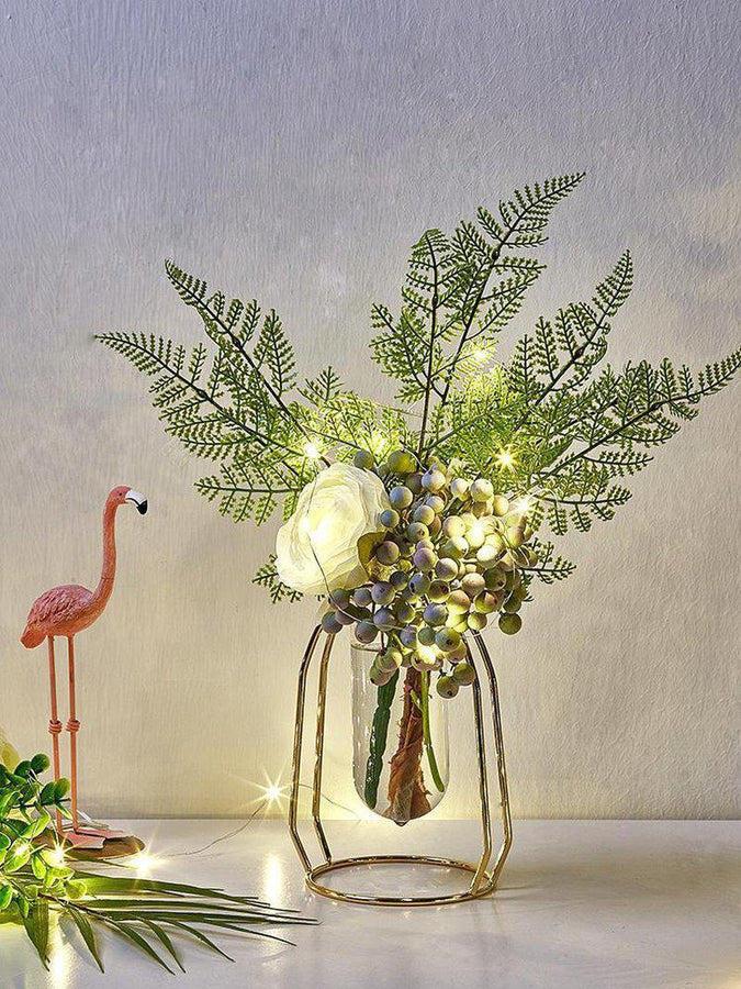 Nordic Metal Vase Flower Set-Heart N' Soul Home-Heart N' Soul Home