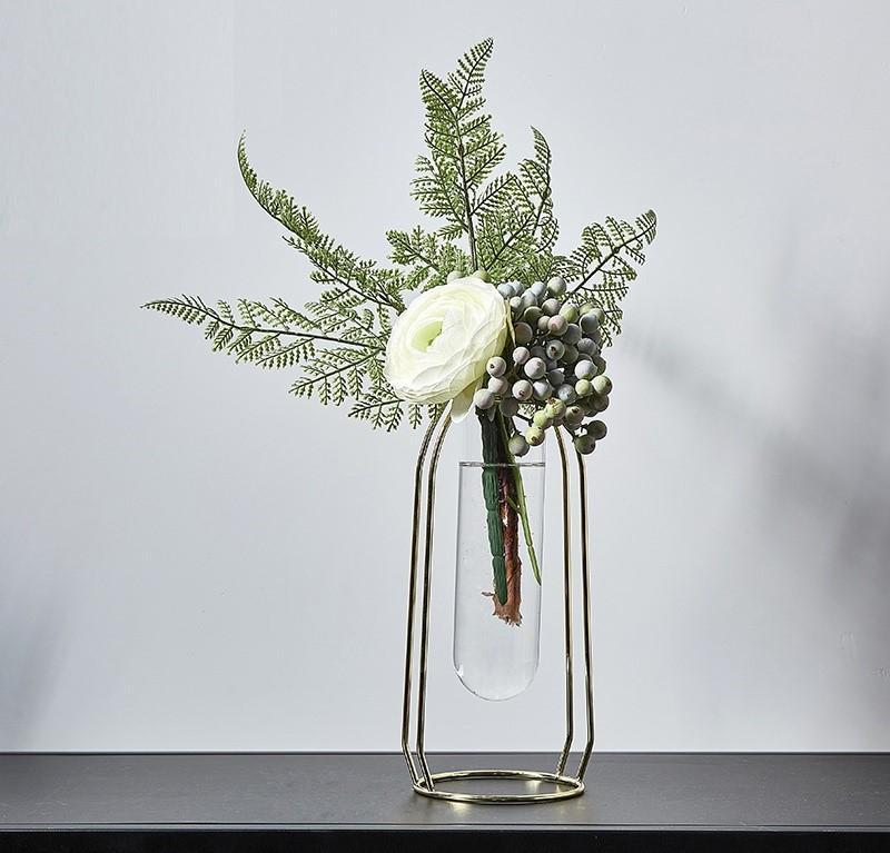 Nordic Metal Vase Flower Set-Heart N' Soul Home-Set 19 LGold + 40cm Flower-Heart N' Soul Home