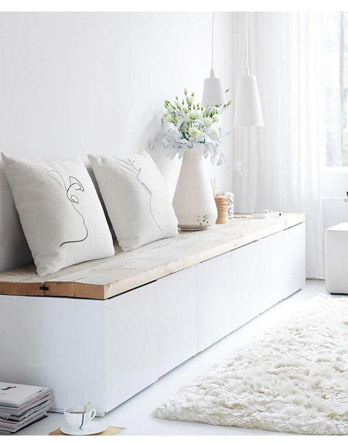 Nordic Minimalist Abstract Line Cushion Cover-Heart N' Soul Home-Heart N' Soul Home