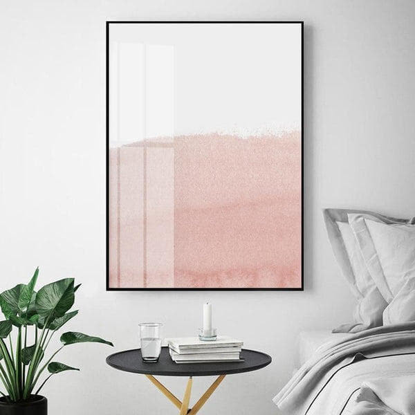 Nordic Style Pastel Pink Canvas Print-Heart N' Soul Home-Heart N' Soul Home
