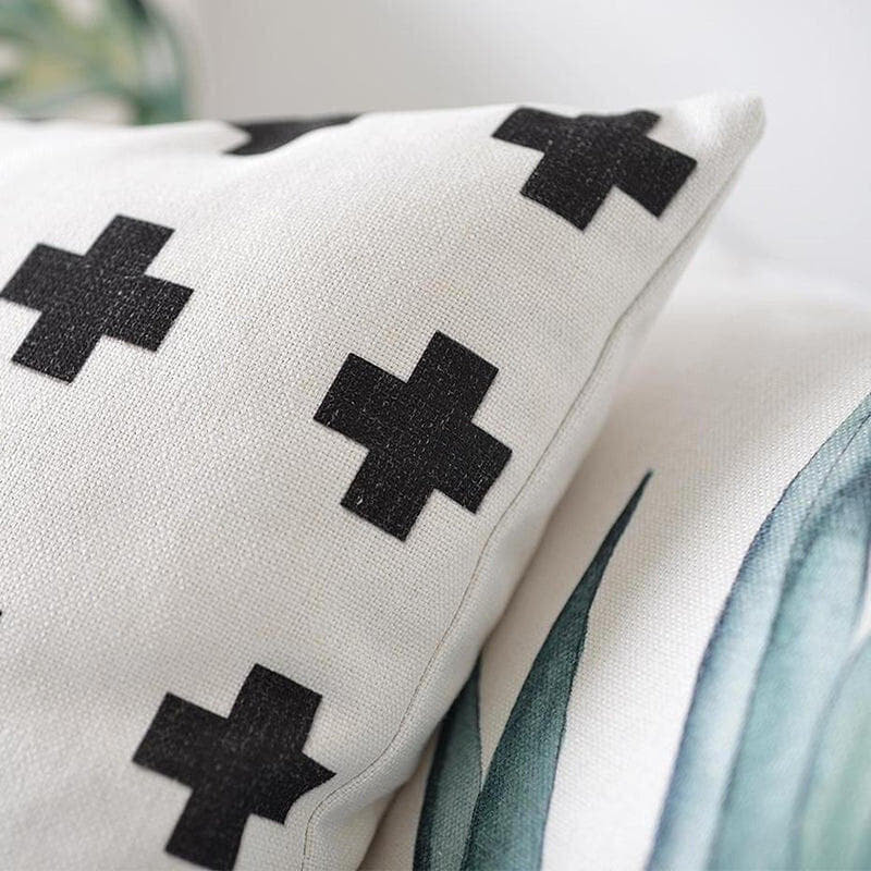 Paislee Fresh Leaves Cotton/Linen Cushion-Heart N' Soul Home-Heart N' Soul Home