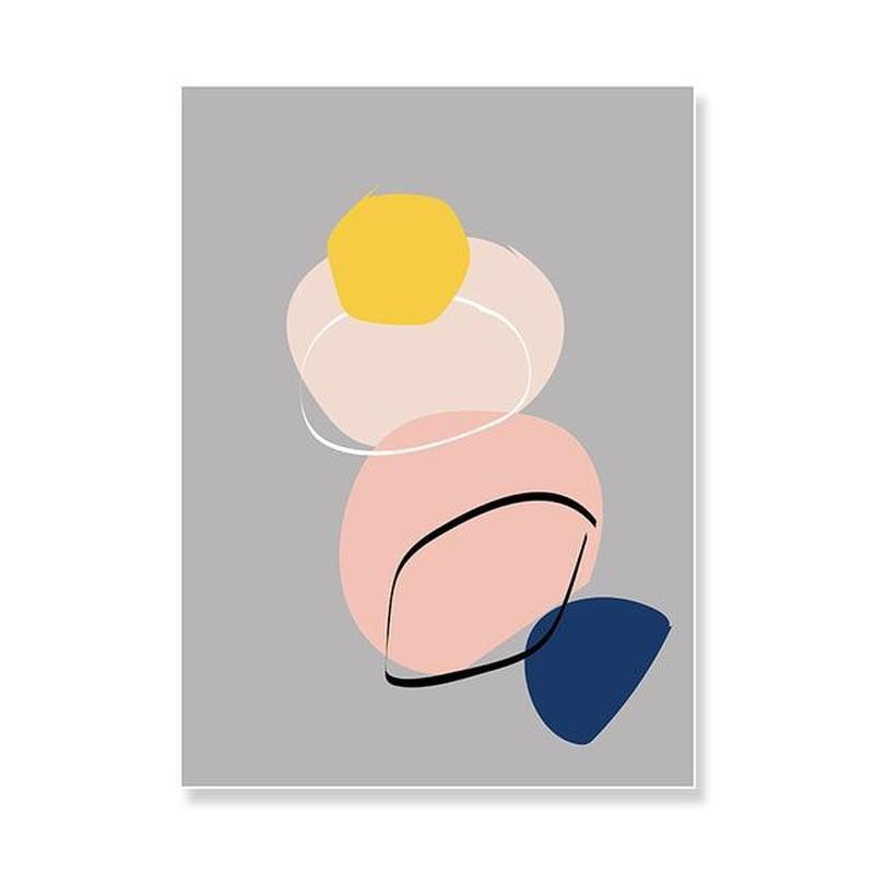 Pastel Shapes Canvas Prints-Heart N' Soul Home-15x20 cm no frame-Grey Background-Heart N' Soul Home