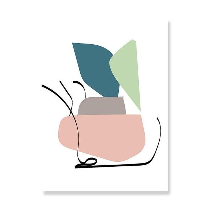 Pastel Shapes Canvas Prints-Heart N' Soul Home-15x20 cm no frame-White Background-Heart N' Soul Home