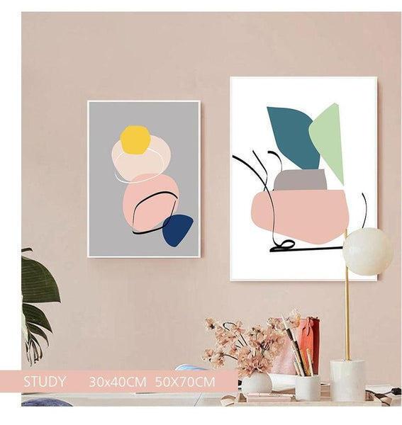 Pastel Shapes Canvas Prints-Heart N' Soul Home-Heart N' Soul Home