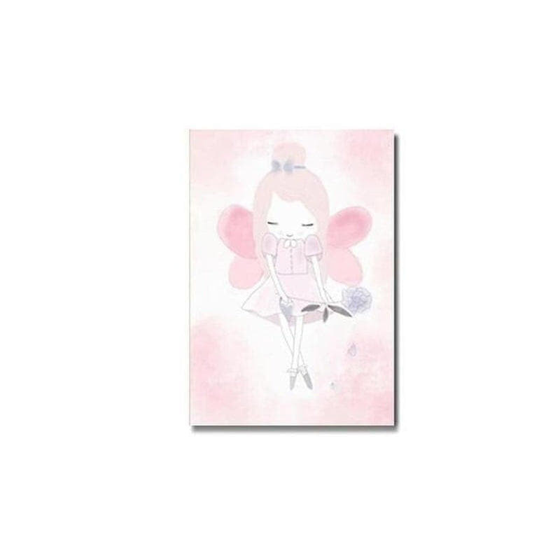 Pink Unicorn / Girl Canvas Painting Prints-Heart N' Soul Home-10x15cm no frame 1-girl-Heart N' Soul Home