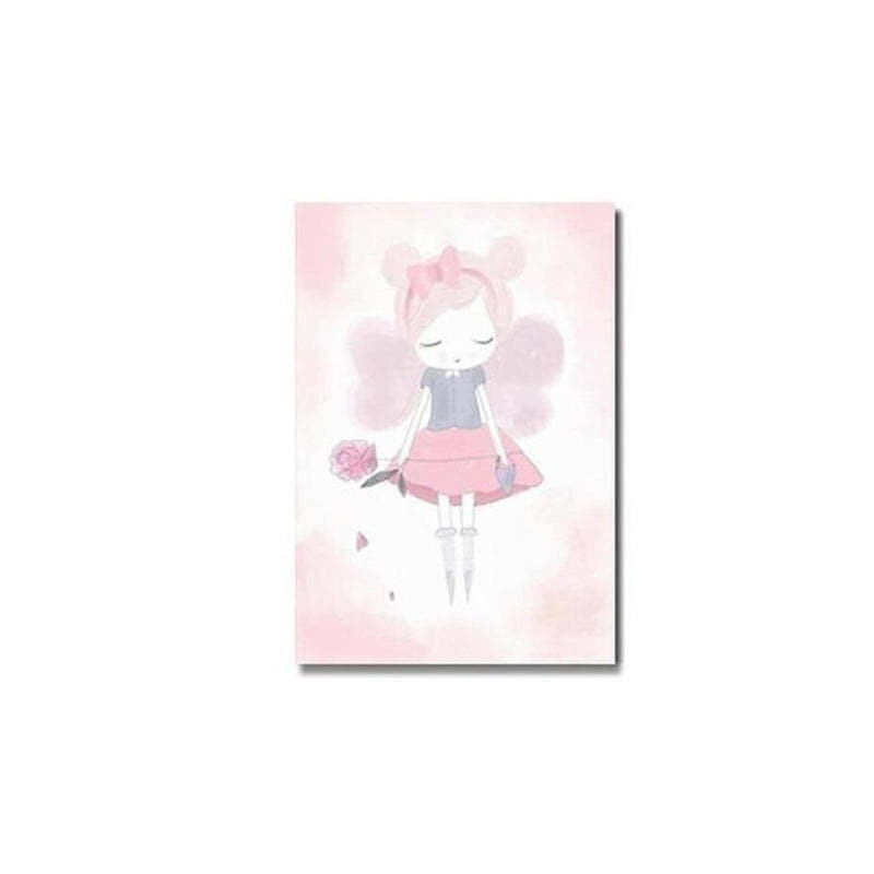 Pink Unicorn / Girl Canvas Painting Prints-Heart N' Soul Home-10x15cm no frame-girl-Heart N' Soul Home
