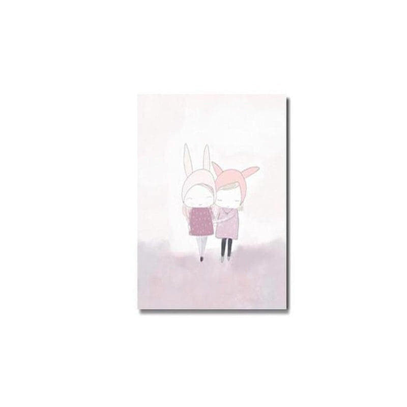 Pink Unicorn / Girl Canvas Painting Prints-Heart N' Soul Home-10x15cm no frame-girls-Heart N' Soul Home