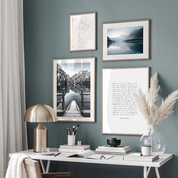 Mountain And Lake Art Prints-Heart N' Soul Home