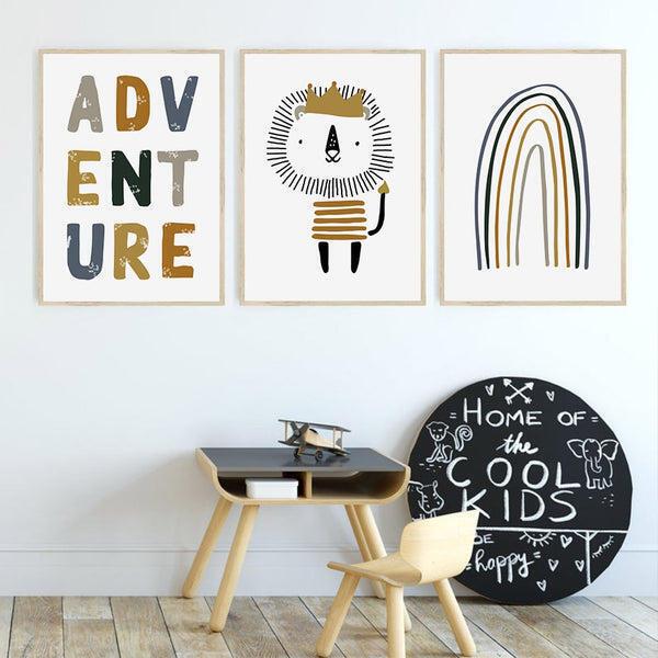 Adventure Little Lion King Nursery And Kids Room Canvas Prints-Heart N' Soul Home