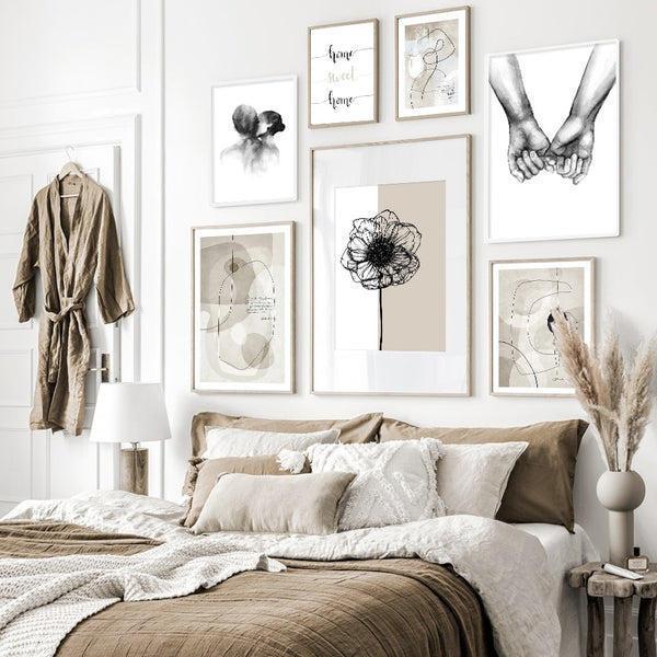 Beige Abode Series Art Prints-Heart N' Soul Home