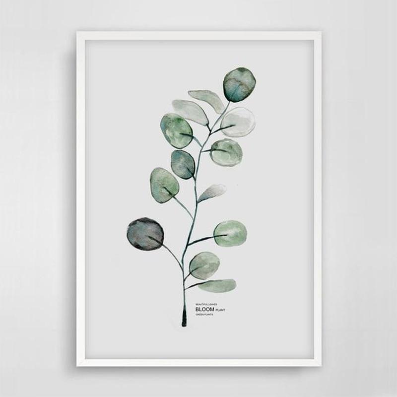 Scandinavian Watercolor Leaf Canvas Print-Heart N' Soul Home-15x20cm No frame-Single Leaf-Heart N' Soul Home
