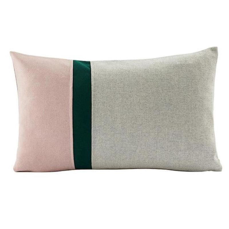 Sofia Cushion Cover-Heart N' Soul Home-Soft Pink/Beige 35*60cm-35*60cm-Heart N' Soul Home