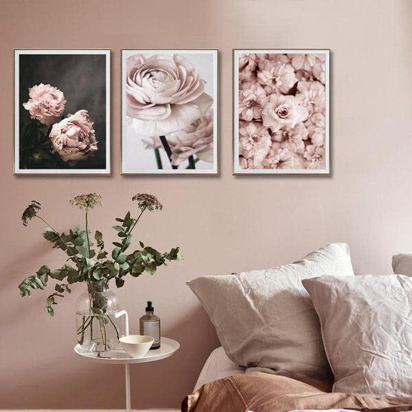 Soft Pink Peony Flowers Canvas Prints-Heart N' Soul Home-Heart N' Soul Home