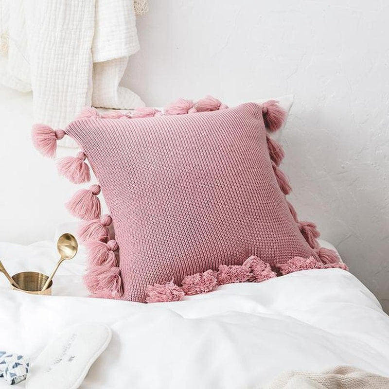 Soft Plush Double Cable Knitted Cushion Cover-HeartnSoulHome-450mm*450mm-B-Heart N' Soul Home