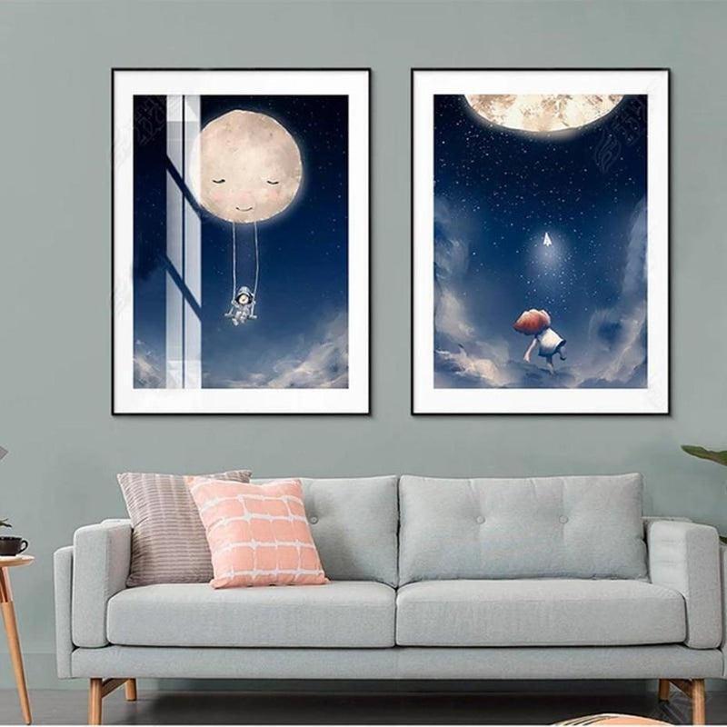 Sweet Good Night Kids Canvas Prints-Heart N' Soul Home-Heart N' Soul Home