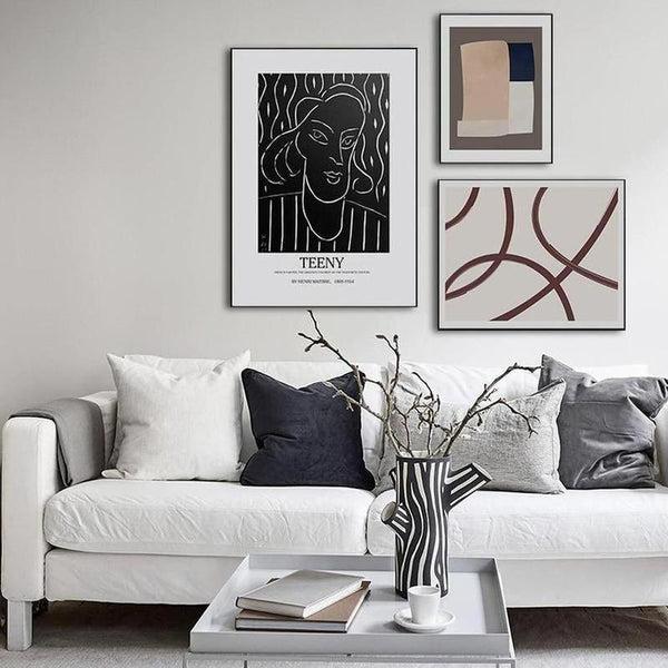 Teeny Abstract Geometric Art Canvas Painting Prints-Heart N' Soul Home-Heart N' Soul Home