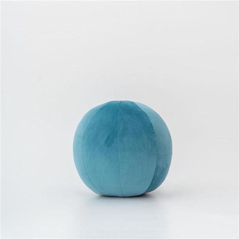 Velvet Round Filled Cushions/Futon-Heart N' Soul Home-Velvet - Bremen Blue-30cm diameter round-Heart N' Soul Home