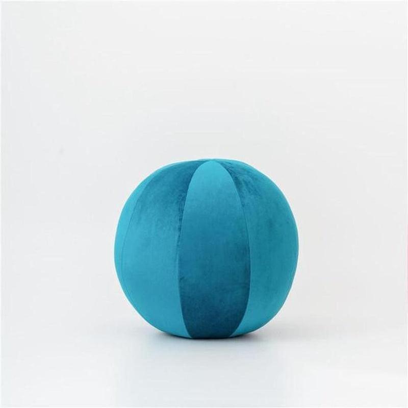 Velvet Round Filled Cushions/Futon-Heart N' Soul Home-Velvet-cabri blue-30cm diameter round-Heart N' Soul Home