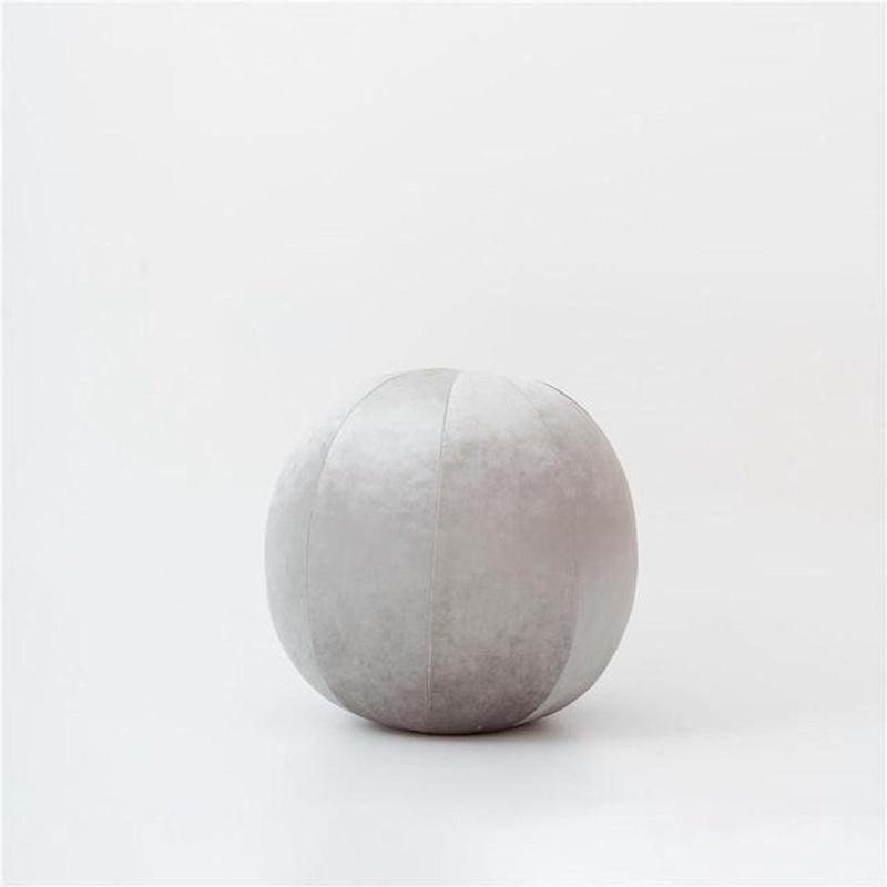 Velvet Round Filled Cushions/Futon-Heart N' Soul Home-Velvet-platinum-30cm diameter round-Heart N' Soul Home