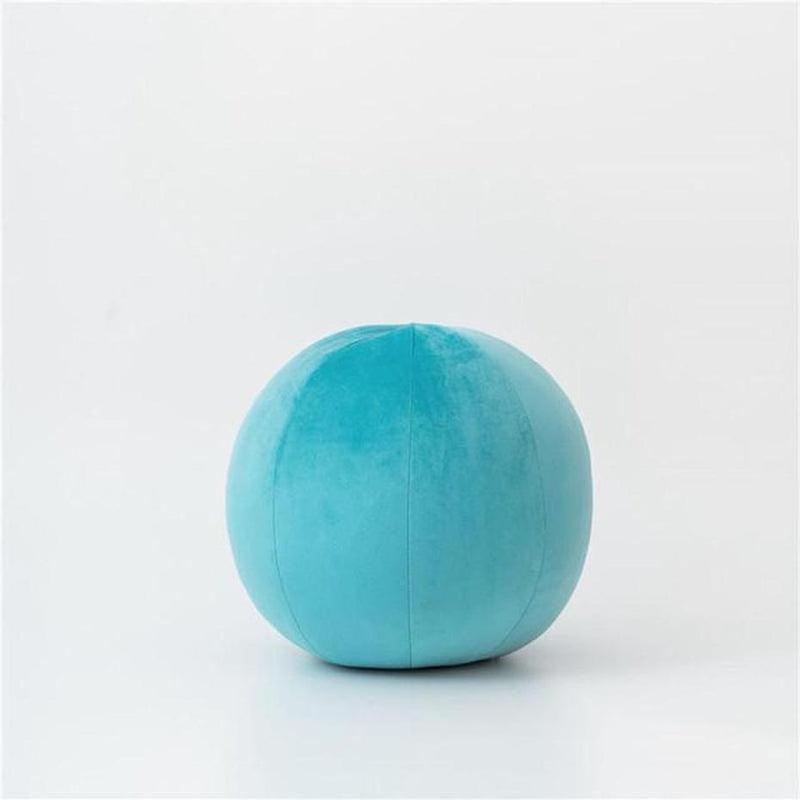 Velvet Round Filled Cushions/Futon-Heart N' Soul Home-Velvet-sky blue-30cm diameter round-Heart N' Soul Home