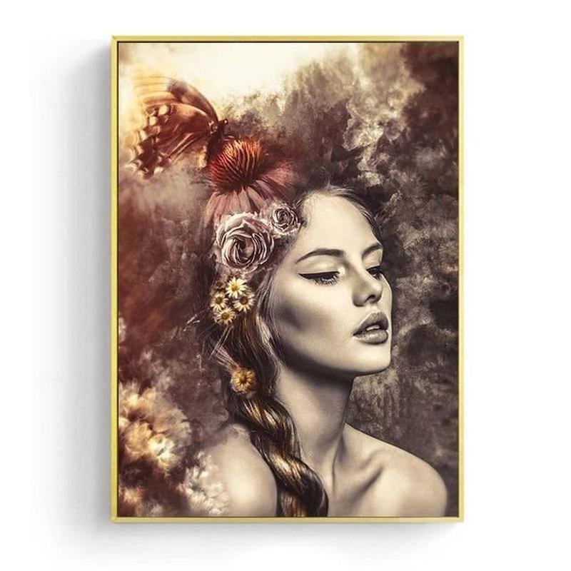 Vintage Girl Canvas Painting Prints-Heart N' Soul Home-15x20cm No frame-Heart N' Soul Home