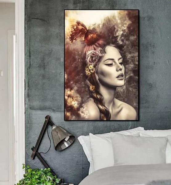 Vintage Girl Canvas Painting Prints-Heart N' Soul Home-Heart N' Soul Home