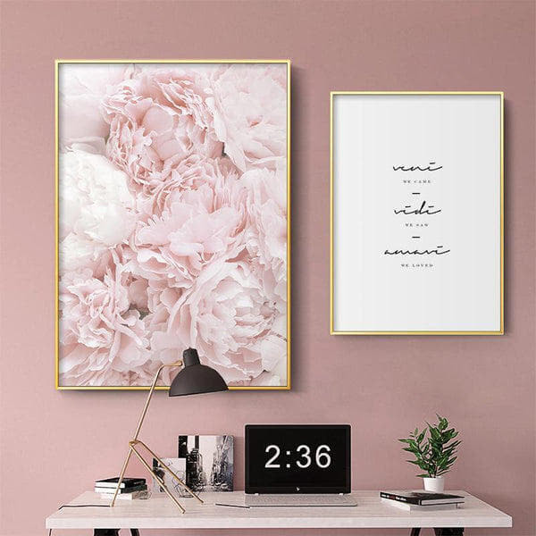 We Came, We Saw, We Loved Peony Flower Canvas Prints-Heart N' Soul Home-Heart N' Soul Home