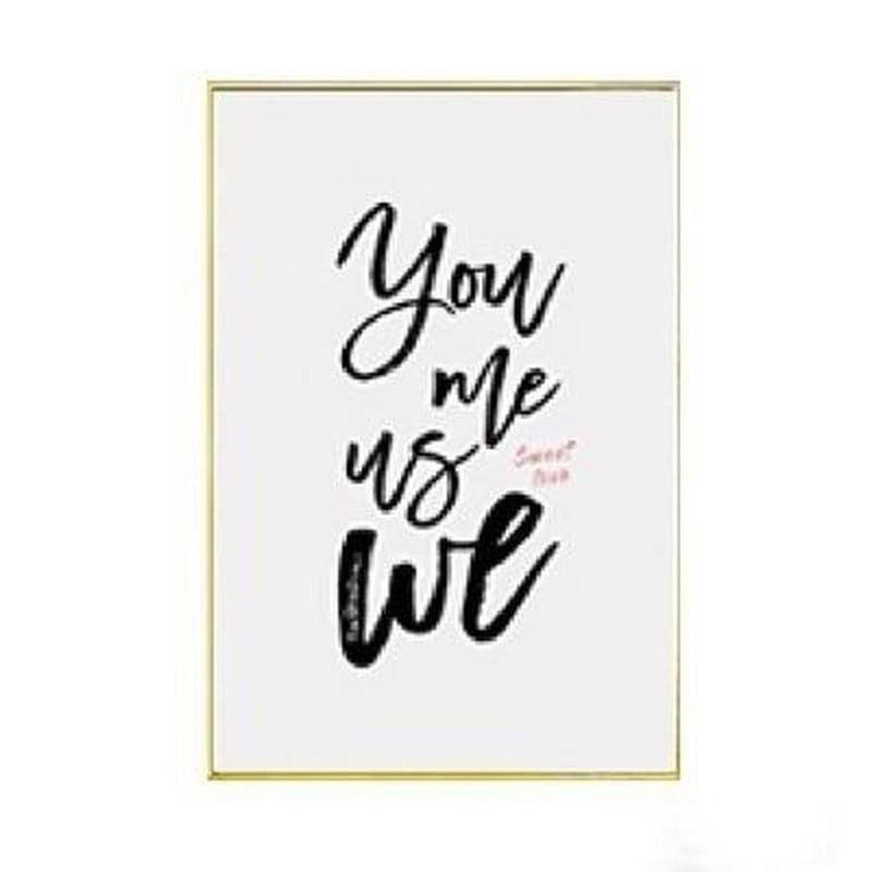 You Me Us We. Canvas Painting Prints-Heart N' Soul Home-10x15 cm no frame-E-Heart N' Soul Home