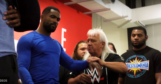 Ricky Morton teaching at the WWE Performance Center