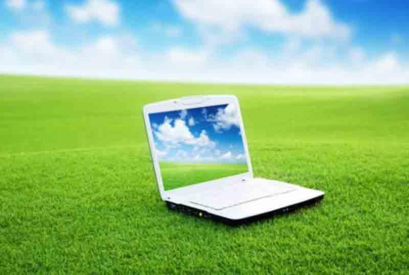 green laptops