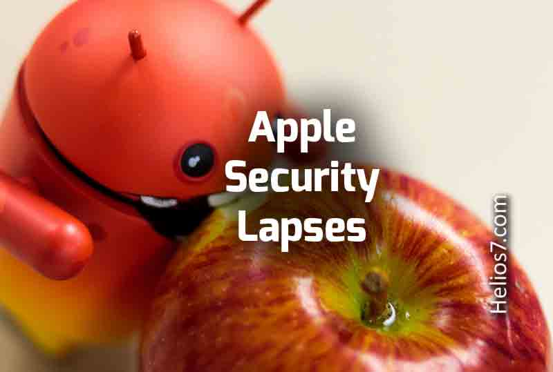 apple security lapses